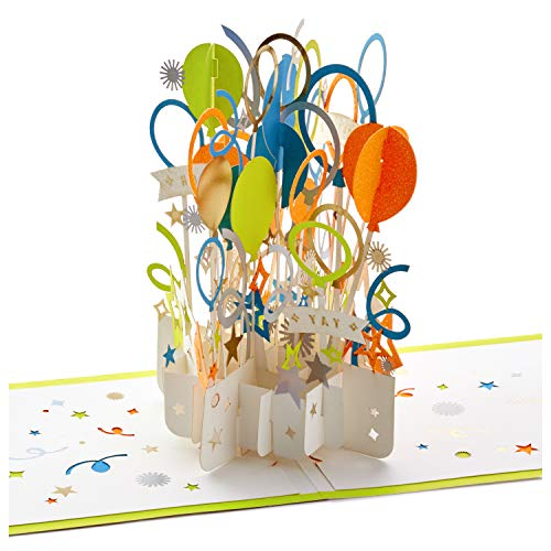 Hallmark Signature Paper Wonder Pop Up Congratulations Card, Fathers Day Card, or Birthday Card (Celebrate) (1299RZH1130)