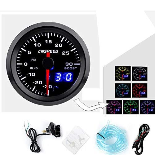 IUFINUEN Coche 52mm LED Turbo Boost EGT Escape Agua Temperatura de Aire de Aire Calibrador (Color : 008)