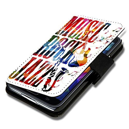 wicostar Book Style Flip Handy Tasche Hülle Schutz Hülle Schale Motiv Foto Etui für Wiko Darkmoon - A36 Design7