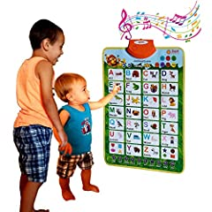 ✅ NEW AND IMPROVED: Second generation interactive poster with Shapes, Colors, Word Association, Spelling and Phonics in addition to Letters A-Z and Numbers 1-10. Made out of sturdy material for demanding little hands. ✅ CUSTOMER INSPIRED & EARLY CHIL...