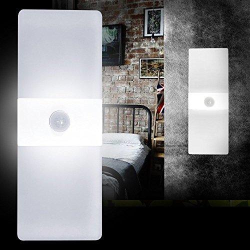 AUFUN 10W LED Moderne Sensor Kaltweiß Wandlampe Wandleuchte mit Bewegungsmelder,Wandbeleuchtung Wasserdicht flur treppenhaus wohnzimmer schlafzimmer kinderzimmer Küche Licht (Kaltweiß)