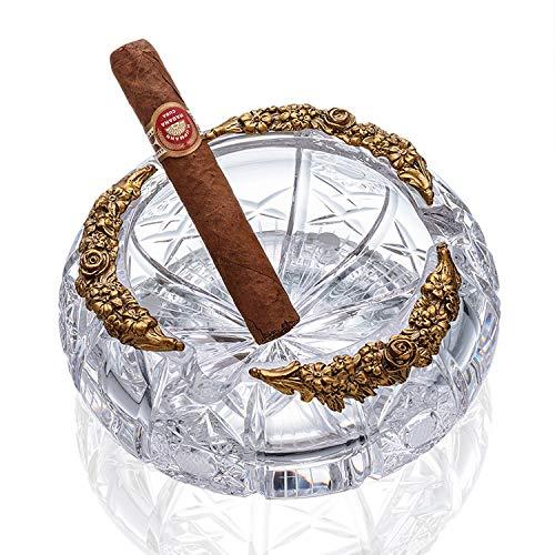 Arovon Cenicero de cigarro para decoración de sala de estar, cenicero creativo ovalado para cigarrillos Size Color