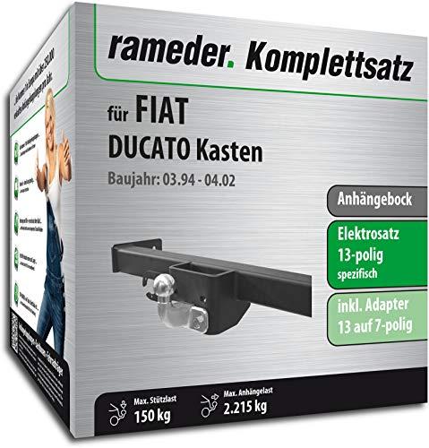 Rameder Komplettsatz, Anhängebock mit 2-Loch-Flanschkugel + 13pol Elektrik für FIAT DUCATO Kasten (113380-00288-1)