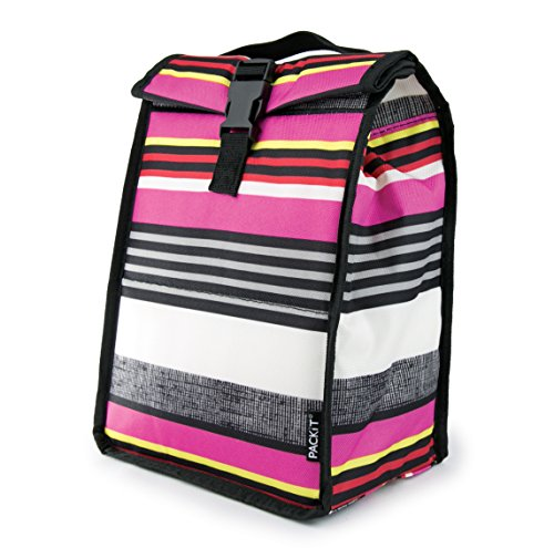 PackIt Freezable Rolltop Lunch Bag, Black