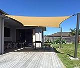 Terrassevoile Rettangolare ombreggiatura Esterno Impermeabile ombreggiatura Tela for Il Giardino Esterno Decking Pergola Tenda a Vela (Color : Beige, Size : 4 * 4M)