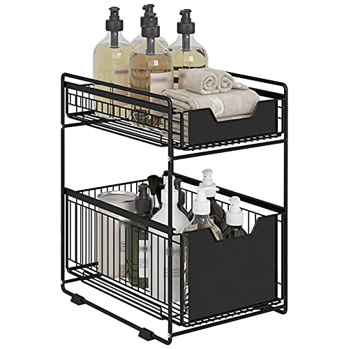 WUQIAO Kitchen Sink Shelf Retractable Storage Rack, Drawer Type Multifunctional Multi-Layer Stable And Durable