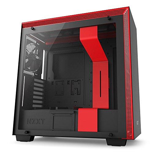 NZXT H700 - ATX-Mid-Tower-Gehäuse für Gaming-PCs - Hartglasfenster - Bereit für Wasserkühlungen - Schwarz/Rot - 2018 Version