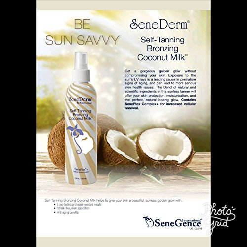 SeneDerm by SeneGence New Self-Tanning Bronzing Coconut Milk Spray