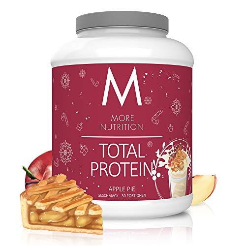 MORE NUTRITION Total Protein Eiweiß-Pulver mit Whey und Casein – 1500 g Apple Pie (+ weitere Sorten) - Mit Aminosäuren und Laktase – Anti-Heißhunger, Gewichtsmanagement und Muskelaufbau