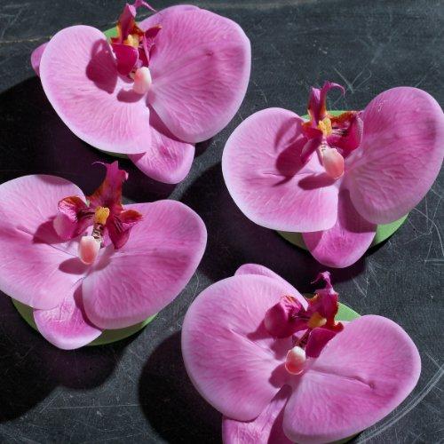Orchideen Blüte schwimmend pink 11 cm 4 Stück in der Box