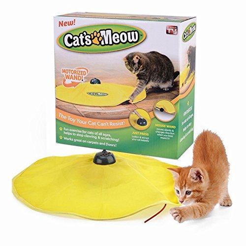 Mixse Cat's Meow Jouet interactif d'intérieur à destination des chats Effet souris sous couverture