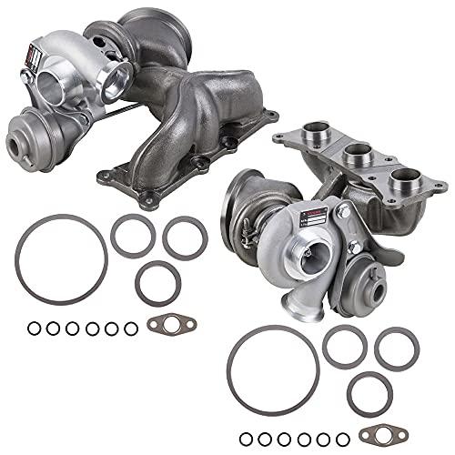 Pair Stigan Turbo w/Turbocharger Gaskets For BMW 335i 335xi 335is E90 E92 E93 N54 - Stigan 842-0090 New