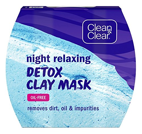 Clean & Clear Night Relaxing Detox Clay Mask, 1.7 Ounce