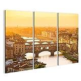 bilderfelix® Bild auf Leinwand Fluss Arno und berühmte