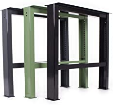 HOLZBRINK Patas de Mesa perfiles de acero 60x30 mm forma de marco 60x72 cm Blanco Tr/áfico 1 Pieza HLT-01-D-CC-9016