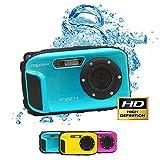 Aqua Pix Ocean Subacquea della Fotocamera Digitale con Batteria Agli Ioni di Litio, Blu Ghiaccio