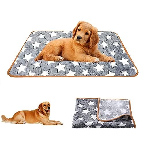 Hundedecke Kuscheldecke, 104*75cm Waschbare Hundedecke, Premium Haustier Decke,Decke Hund, Flauschige Haustierdecke, Fünfzackiges Sternchenmuster Hund Katze Bett Decken,für Hundebett Sofa und Couch