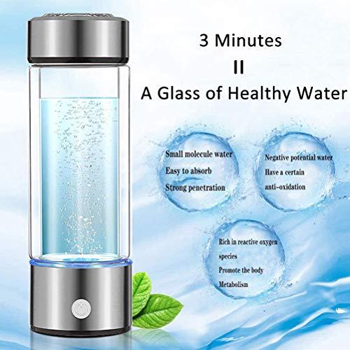 Himu Wasserstoff Alkaline Wassermaschine Generator Wasserstoff Wasserflasche Pitcher Ionisierungssystem mit SPE & PEM Technologie, US Proton Membran, macht den Wasserstoffgehalt zu 800–1200 PPB