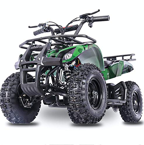 Fit Right 2020 Sonora Kids 24V Mini Quad ATV, Dirt Motor Electric Four Wheeler Parental Speed Control, With350W Motor Power Reserve, Large Tires & Wide Suspension (GREENCAMO)