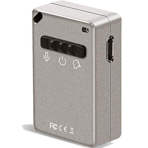Registratore Vocale Digitale,Voce Attivata registratore Riproduzione con 3.5mm Plug Auricolare - 10 ore per riproduzione & 15 ore Riduzione Del Rumore Registratore Audio Sonoro con 16GB Memoria Carta