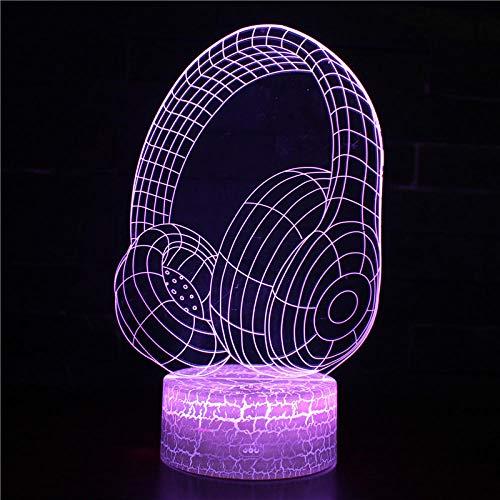 Lámparas LED de ilusión óptica 3D con mando a distancia, 16 colores, ayuda para dormir y guía nocturna, decoración para el hogar, dormitorio, fiestas, ideas de regalo de Navidad para adolescentes