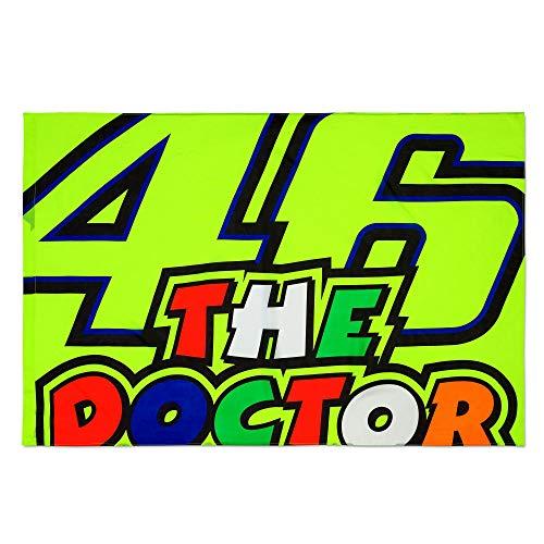 VR46 Rossi Doctor Design Flagge – Mehrfarbig