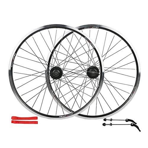 CWYP-MS 24' 650B MTB Bike Wheel Set Disc Rim Brake 7 Speed Sealed Bearings Hub