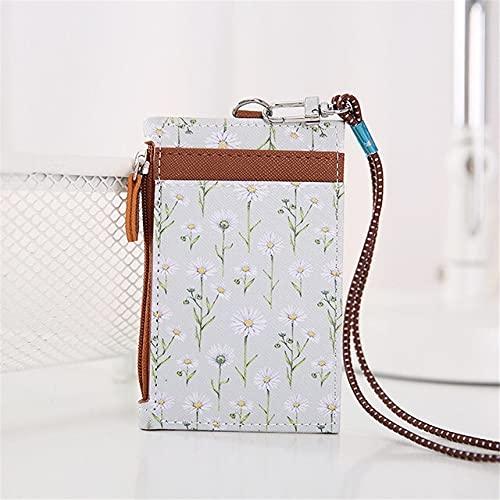 XKMY Soporte para tarjetas de crédito, diseño floral, para hombres y mujeres, color café
