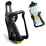 LEORX Botella de agua jaula soporte para bicicleta - sostenedor de botella de agua plástica ajustable Universal