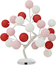Table Light LED USB and Battery Operated Cotton Thread Ball Tree Lamp Girl Heart Desk Lamp for Room Decoration Without Battery