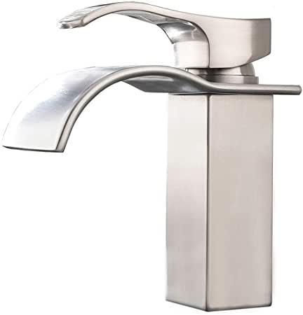 Kingston Brass KS7418AL Single Hole Bathroom Faucet with Drain Assembly Finish: Brushed Nickel$142.99WayfairFree shippingFor most items:30 day return policy