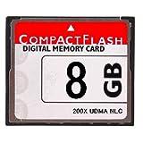 【東芝製チップ】採用オリジナルブランド■CompactFlash CFカード コンパクトフラッシュ 8GB 200X 200倍速 UDMA対応●D2Xs/D2Hs/D3/D3S/D700/D300S/EOS 5D MarkII/7D/ 60D/EOS 5D MarkIII●