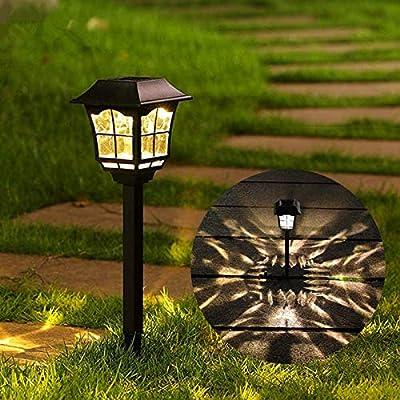 Maggift 8 Lumens Solar Pathway Lights Solar Garden Lights Outdoor Solar Landscape Lightsfor Lawn Patio Yard Pathway Walkway, 6 Pack