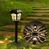 Solar powered -- powered by solar, are charged in full and direct sunlight for 6-8 hours, the lights automatically turn the lights on at dusk and off at dawn. There is a tab on the light cover, please remove it before charging. Light brightness is 8 ...