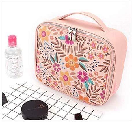 Chunjiao Dames Sac cosmétique cosmétiques Boîte de Rangement de Grande capacité Multi-Compartiment Multifonctionnel Maquilleur Portable avec Sac de Maquillage Boîte de Rangement cosmétique
