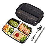 Xixihaha 4 Compartment Warm Lunch Bento Box lunchbots Stainless Steel Portable Picnic Eco