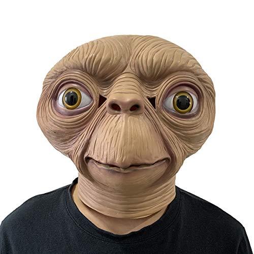 E.T. Alien Mask Latex Full Head UFO Masks Halloween Cosplay Costume