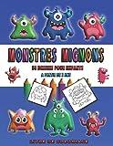Livre de coloriage monstres mignons 50 dessins pour enfants à partir de 2 ans: Livre de coloriage pour enfants 50 dessins sur les monstres mignons à partir de 2 ans