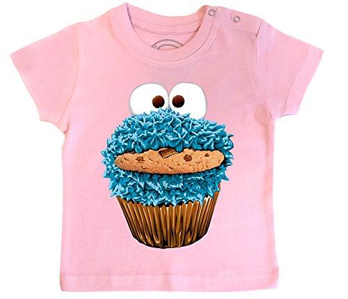 PIXEL EVOLUTION Camiseta de bebé Cookie Monster tamaño 24 Meses - Rosa