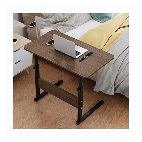 GIAO Escritorio portátil portátil, altura ajustable, altura ajustable, color roble negro cepillado