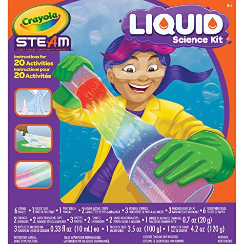 Crayola Liquid Science Kit for Kids, Water Experiments, Educational Toy, Gift for Kids, 8, 9,10, 11