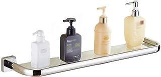 ZfgG Plataforma de baño, Acero Inoxidable 304 Punch-Libre de baño de Montaje en Pared de Vidrio for baño Estante de Toalla Ducha de Tres Capas Delantera de Espejo Estante de Vidrio estantería de baño