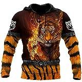 Animal Tiger - Sudadera con capucha unisex con estampado en 3D, Sudaderas con capucha, XXXXL