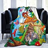TECHSOURCE Bambi for Kid Ultra-Soft Fleece Blanket Warm Flannel Blankets and Throw Blankets All Season Sofa Bed Blanket and Living Room for Boys/Girls/Teen/Kid,50'X40'