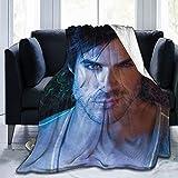 Vampire Diaries Blanket Fleece Blanket Ultra Soft Throw Blanket Comfort Light Weight Bedding for Sofa All Seasons