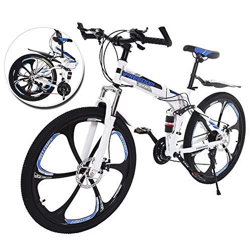 Qazqa 26 Inch Disc Brakes Mountain Bike, Folding Bike for...
