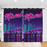JINfjapafg Curtain Miami Basketball He-at Blackout Curtains, Stylish Bedroom Curtains, All-Season Insulated Room Blackout Curtains/Curtains (Wearing Rod Type) 52inch x 72inch