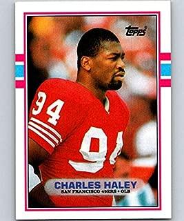 1989 Topps #11 Charles Haley 49ers NFL Football Card NM-MT