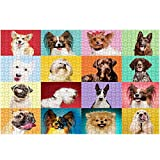 500 Pieces Jigsaw Puzzles for Adults, Animal Intellectual Educational 20×15 Inch Puzzle Game,Colorful Difficult Puzzle Art for Men and Women,Great Gift for Family and Friends (Pet Dogs)