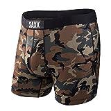 En Bref SAXX Vibe Camo Woodland Hommes Boxer, Vert/marron Médium